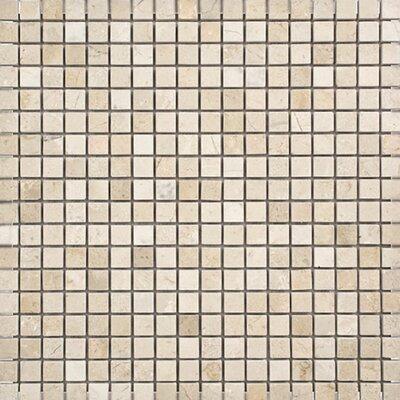 Crema Marfil 0.625 x 0.625 Stone Mosaic Tile Polished