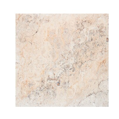 Scabos 18 x 18 Travertine Field Tile in Beige