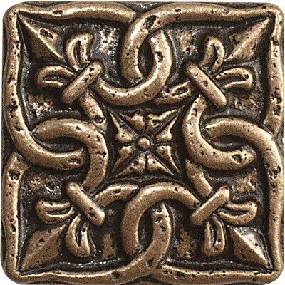 2 x 2 Renaissance Deco Accent Tile in Bronze