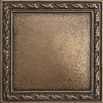 1 x 1 Olive Branch Deco Accent Tile in Bronze
