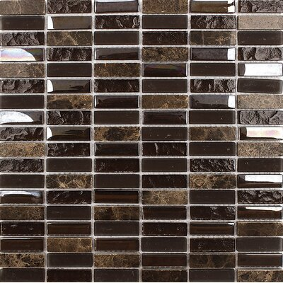 Vsop Blend Stacked 0.625 x 2 Mosaic Tile
