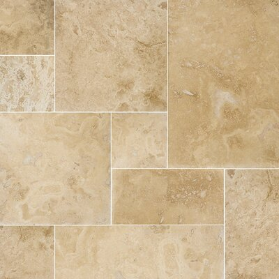 Modena Random Sized Travertine Field Tile in Beige