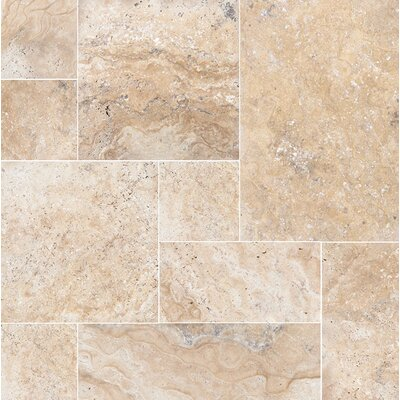 Philadelphia Random Sized Travertine Field Tile in Beige