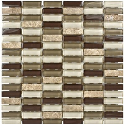 Santa Monica 0.625 x 2 Glass Mosaic Tile