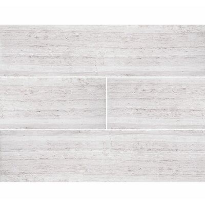 Wood Grain 6 x 24 Stone Tile in Gray Honed