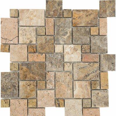 Scabos Mini Versailles Random Sized Stone Mosaic Tile