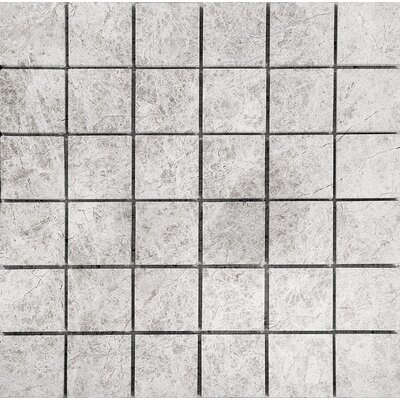 Marble 2 x 2 Stone Mosaic Tile in Antique Gray Polished