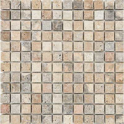 Scabos Tumbled 1 x 1 Stone Mosaic Tile
