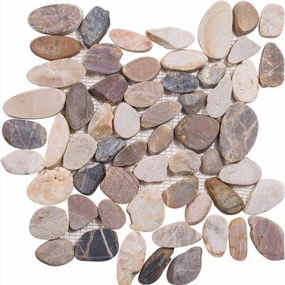 Sliced Stone Pebble Tile in Multi