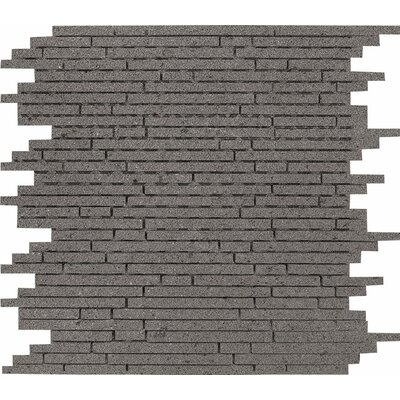 Lava Random Strips Random Sized Stone Mosaic Tile in Honed Honed