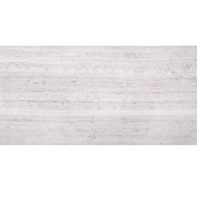 Wood Grain 12 x 24 Marble Field Tile in Gray