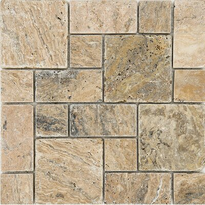 Scabos Roman Pattern Tumbled Random Sized Stone Mosaic Tile