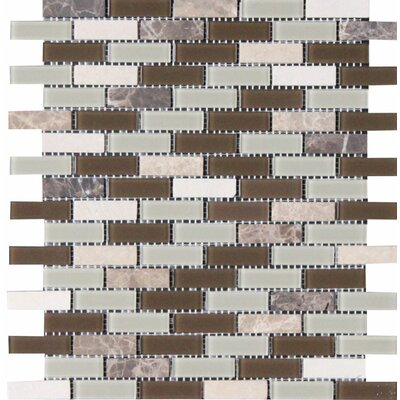 Modesto 0.625 x 2 in Glass Mosaic Tile
