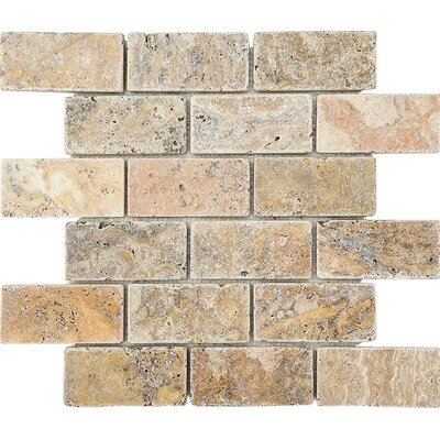 Scabos Tumbled 2 x 4 Stone Mosaic Tile