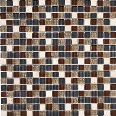 Oxnard 0.625 x 0.625 Glass Mosaic Tile