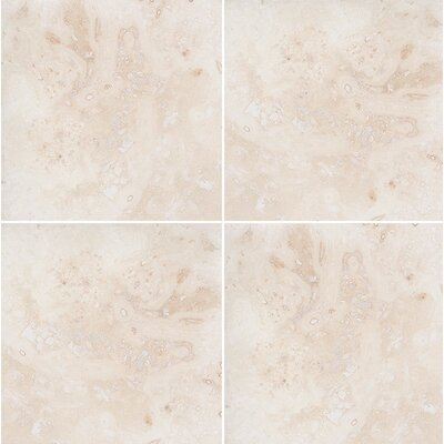 Classic 12 x 12 Travertine Field Tile in Honed Ivory