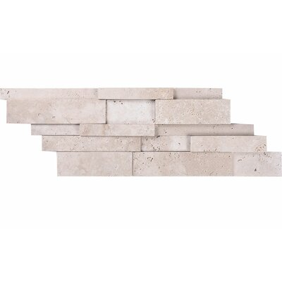 Ledger Random Sized Stone Mosaic Tile in Ivory