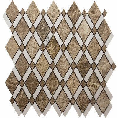 Oceanside Diamond Stone Mosaic Tile in Light