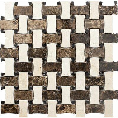 Palos Verdes Basketweave Stone Mosaic Tile