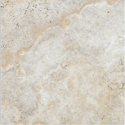 Scabos 24 x 24 Travertine Field Tile in Gray