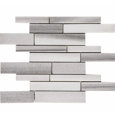 Horizon Atrium Random Sized Stone Mosaic Tile in White Polished