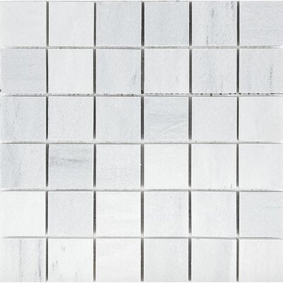 Naples Marble 2 x 2 Stone Mosaic Tile in White Honed