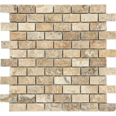 Scabos Tumbled 1 x 2 Stone Mosaic Tile