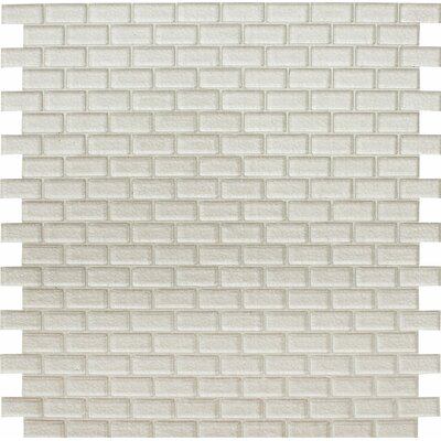 Tahoe Brick 0.625 x 1.25 Glass Mosaic Tile in Clear