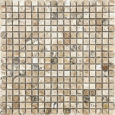 0.625 x 0.625 Stone Mosaic Tile in Antico Polished