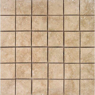 2 x 2 Stone Mosaic Tile in Walnut