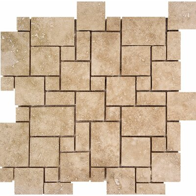 Mini Versailles Random Sized Stone Mosaic Tile in Walnut
