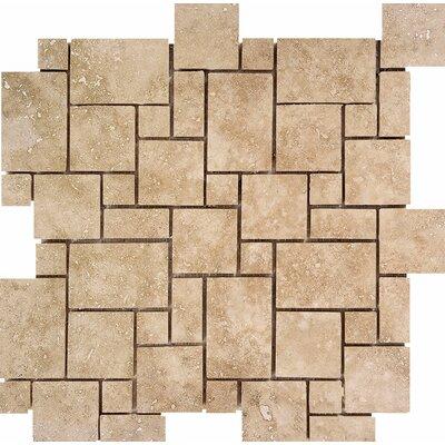 Mini Versailles Random Sized Stone Mosaic Tile in Walnut