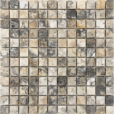 1 x 1 Stone Mosaic Tile in Antico Honed