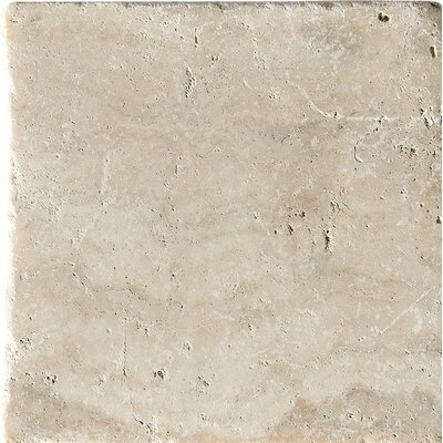 Philadelphia Tumbled 6 x 6 Travertine Field Tile in Beige