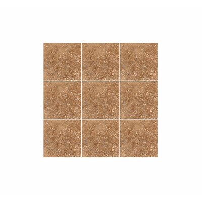 4 x 4 Travertine Field Tile in Walnut Honed