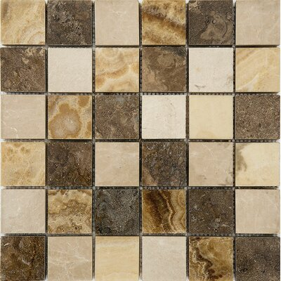 Bosphorus Marble 2 x 2 Stone Mosaic Tile in Onyx Beige Polished