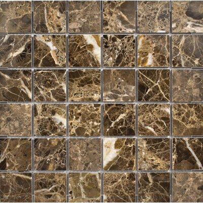 Emperador 2 x 2 Stone Mosaic Tile in Dark Polished