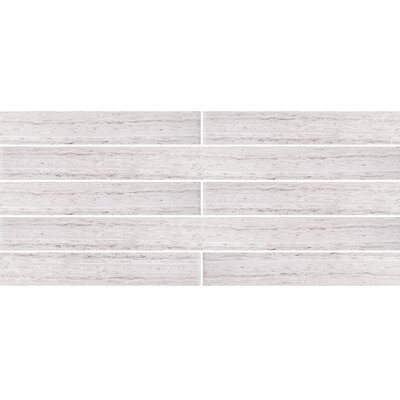 Wood Grain 2 x 24 Marble Field Tile in Gray