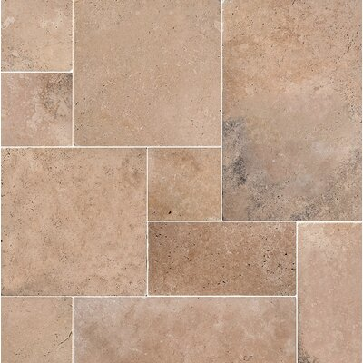 Odeon Random Sized Travertine Field Tile in Brown