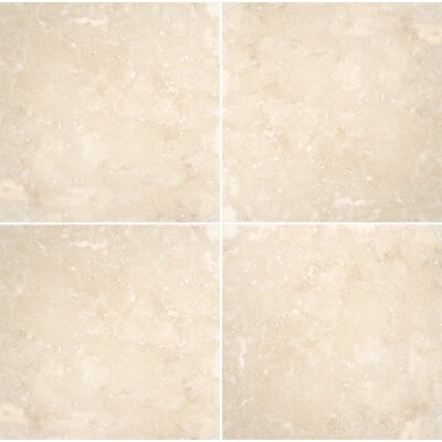 Premium 12 x 12 Travertine Field Tile in Ivory Honed