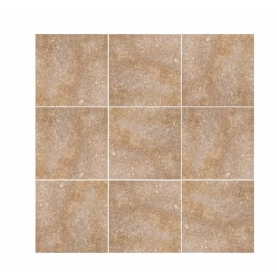 Tumbled 6 x 6 Travertine Field Tile in Noce