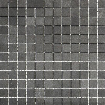 Lava 1 x 1 Stone Mosaic Tile in Black Honed