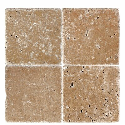 6 x 6 Travertine Field Tile in Expresso