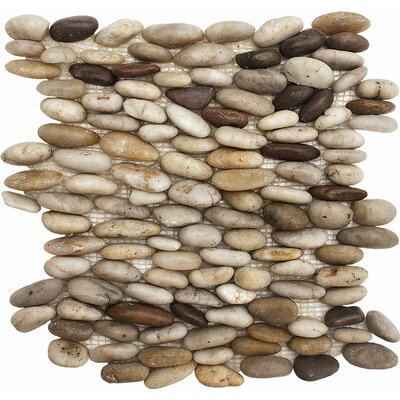 Standing Stone Pebble Tile in Wine