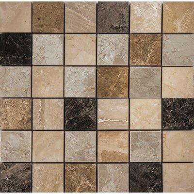 Valencia Mix Marble 2 x 2 Stone Mosaic Tile Polished