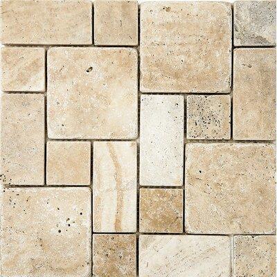 Philadelphia Roman Pattern Tumbled Random Sized Stone Mosaic Tile