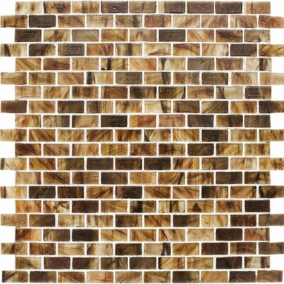 Riverside Brick 0.625 x 1.25 Glass Mosaic Tile in Matte