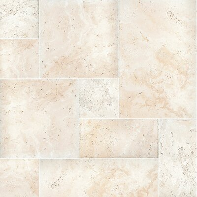 Random Sized Travertine Field Tile in Beige