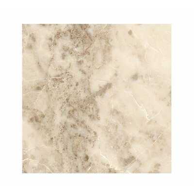 18 x 18 Marble Field Tile in Cappuccino Polished