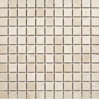 Crema Marfil 1 x 1 Stone Mosaic Tile Polished